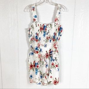 NEW Lily Rose White Floral Print Romper XXL